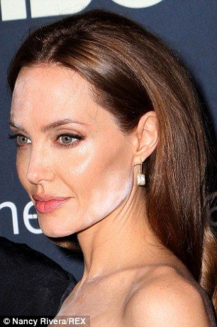 Not their best look: Both Nicole Kidman and Angelina Jolie suffered make-up blunder this past week, Nicole pictured in Cannes on Wednesday and Angelina in NYC on Monday