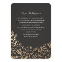 Elegant gold floral by Shelby Allison. For matching invitations, reply cards, stickers and other items click on the link below to view the entire Harvest Flowers.