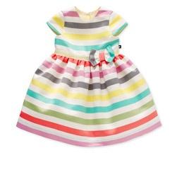 Baby K Multi Colour Stripe Party Dress