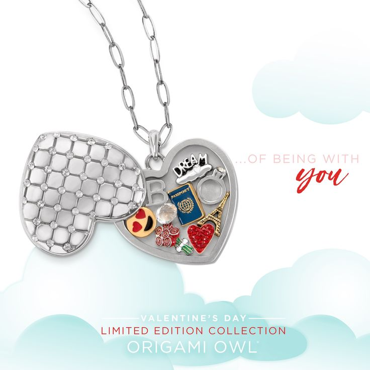 Origami Owl Heart-Shaped Keepsake Locket! Valentine Collection 2018 ❤