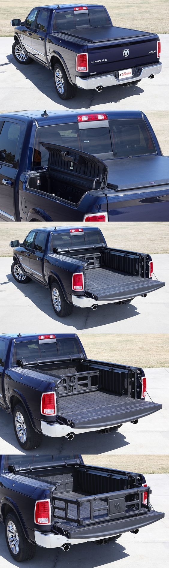 This ram 1500 truck has the rambox package and our access limited edition roll up cover this tonneau cover works perfectly with the rambox package