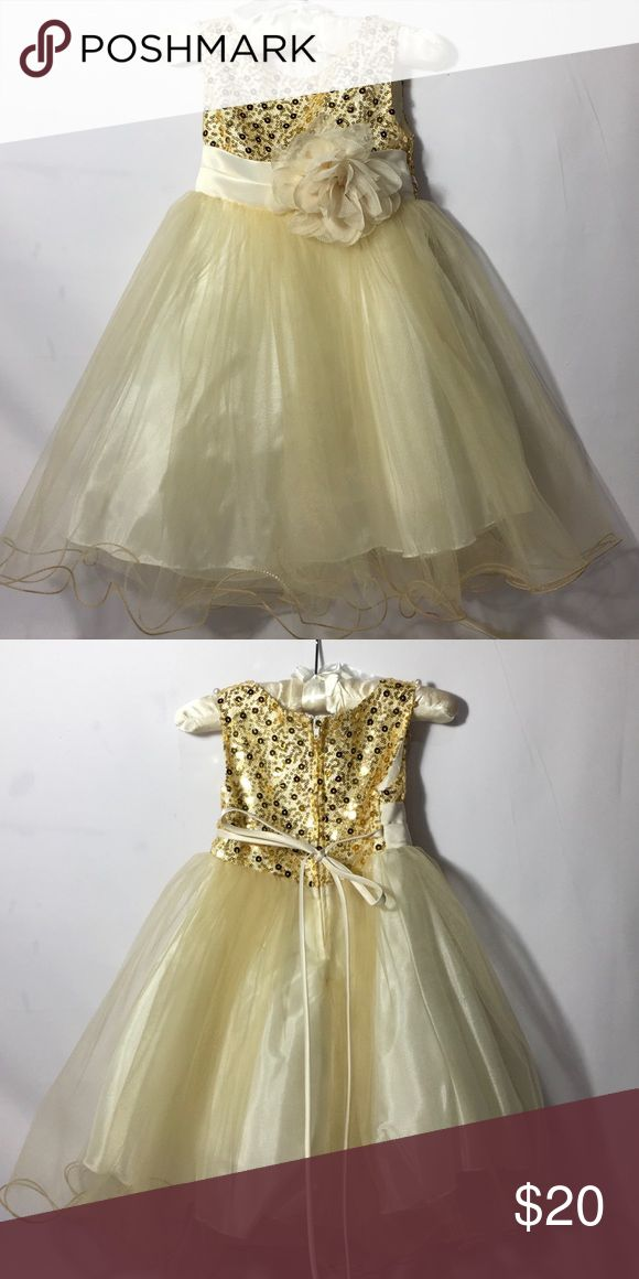 Girls Toddler Holiday Dress Beautiful holiday dress with sequin top. Kids Dream Dresses Formal