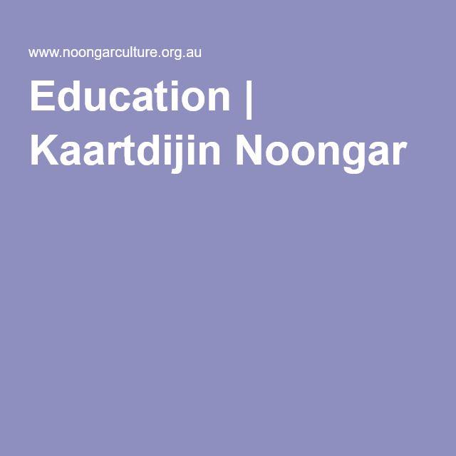 Education | Kaartdijin Noongar