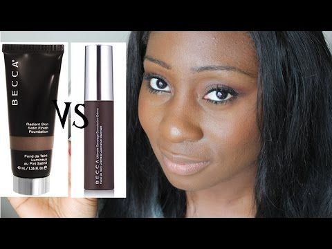 BECCA FOUNDATIONS BATTLE, REVIEW & DEMO - YouTube