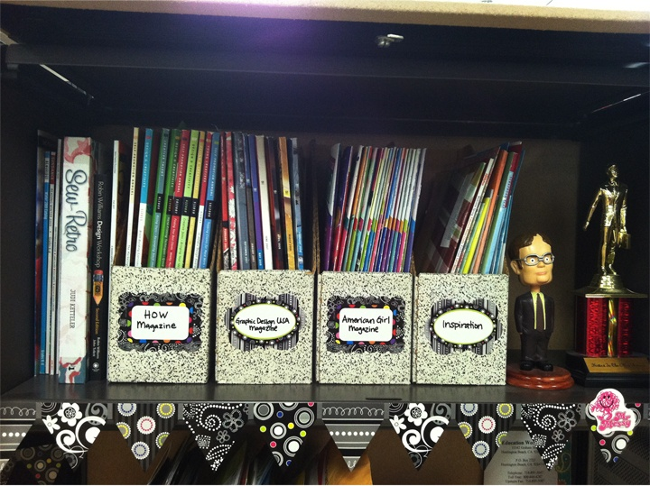 This person used the BW name tags to label magazines files. What a great idea!  http://www.creativeteaching.com/p-4472-festive-dots-name-tags.aspx: School, Decorating Ideas, Classroom Decoration, Classroom Sewing, Beason S Classroom, Classroom Ideas, Teaching Classroom Themes, Classroom Organization, Crafty Ideas