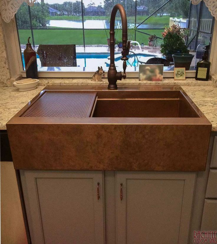 Farmhouse sink installation in existing copper