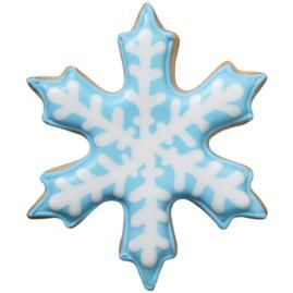 Blue Snowflake Cookie - Beautiful frost lines are created on snowflake by