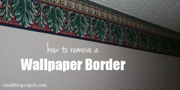 How to remove a wallpaper border Remove wallpaper
