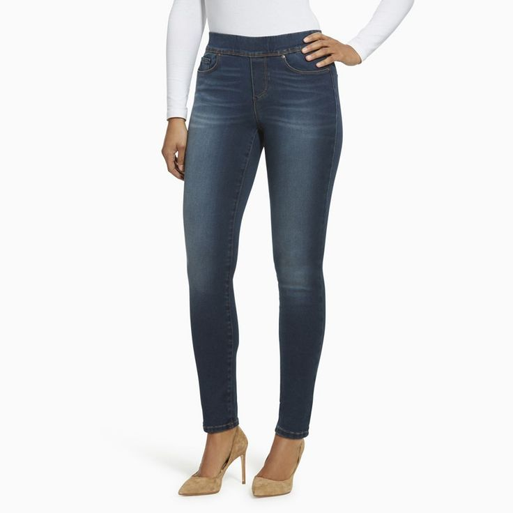 Women's Gloria Vanderbilt Avery Slim Straight-Leg Jeans, Size: 16 Short, Brt Blue