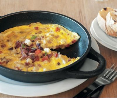 Bettys Kitschen's Frittata with Tomato, Red Onion, Potato and Sliced Jambon