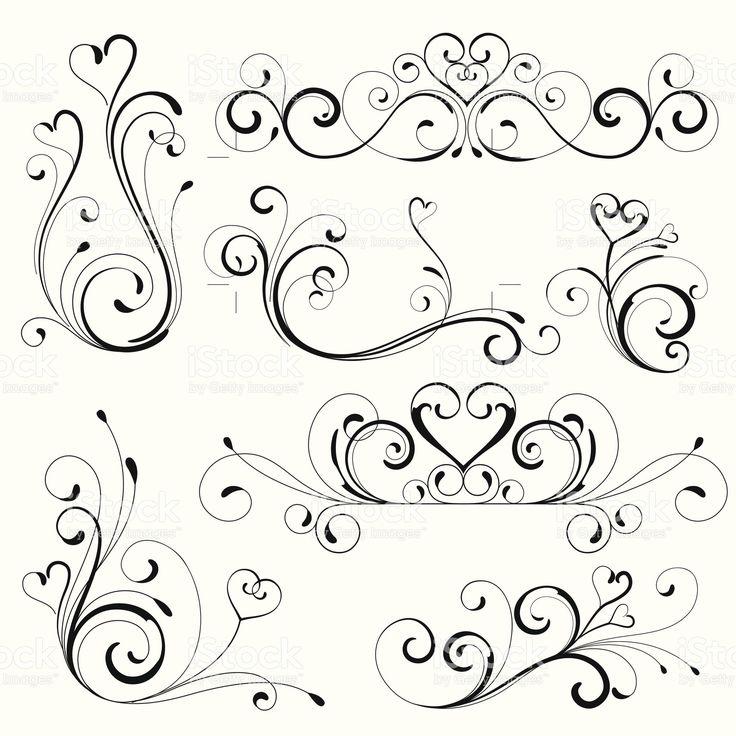 Coração Role design vetor e ilustração royalty-free royalty-free