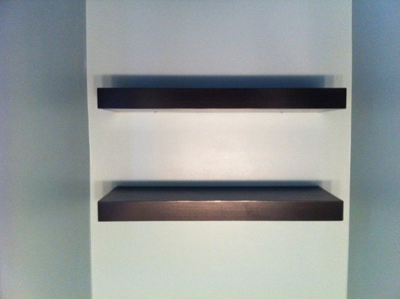 Floating shelves and Shelves on Pinterest