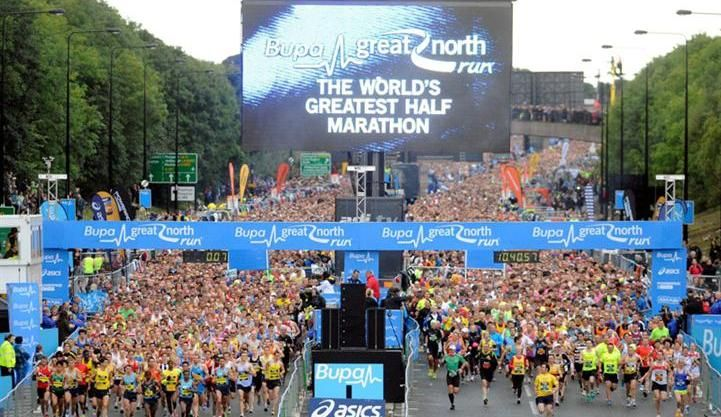 The Great North Run the biggest half marathon event in the UK (possibly the world). A great event and somewhere I like to run every year.