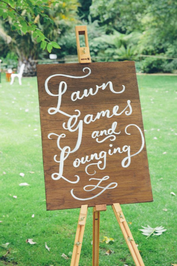 Lawn games and lounging: http://www.stylemepretty.com/destination-weddings/2015/08/19/travel-inspired-summer-wedding-at-chelsea-physic-garden/ | Photography: Pete Cranston - http://www.petecranston.com/