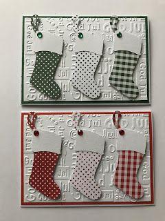 Idag blogger jeg med årets første julekort. Og som I sikkert har fundet ud af   er jeg vild med embossing foldere ,   så også idag er der b...