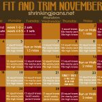 website with a calendar for each month with a workout you should do each day!