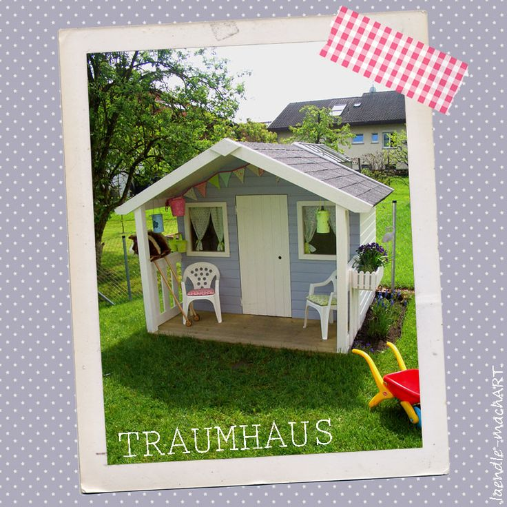 gartenhaus kinderspielhaus spielhaus diy selber machen tutorial dekoration garten. Black Bedroom Furniture Sets. Home Design Ideas