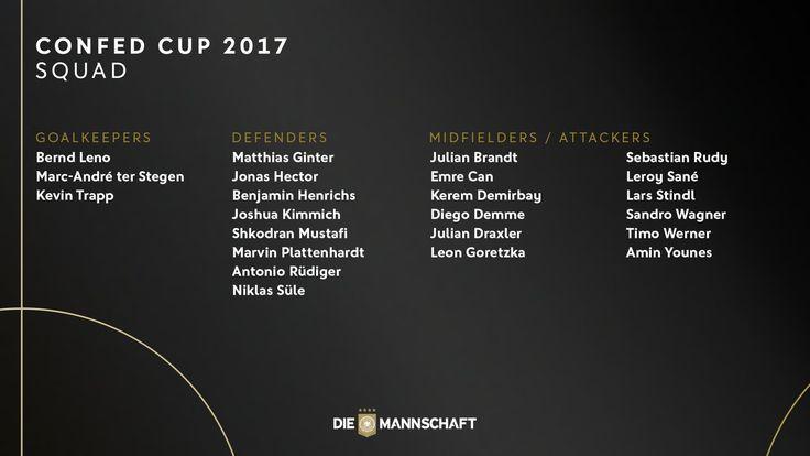 Sem estrelas e com novidades, seleção alemã é convocada para Copa das Confederações   Alemanha Futebol Clube