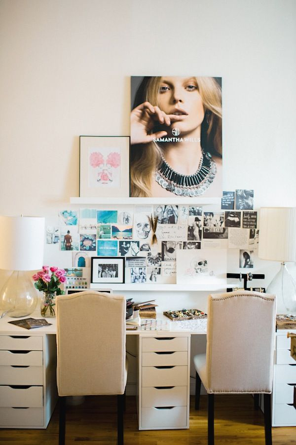 Glitter Girl: Samantha Wills by Trent Bailey Photography for Glitter Guide    Samantha's NYC apartment & studio!  Facebook.com/OfficialSW image via GlitterGuide.com #interiordesign #interiors #designstudio