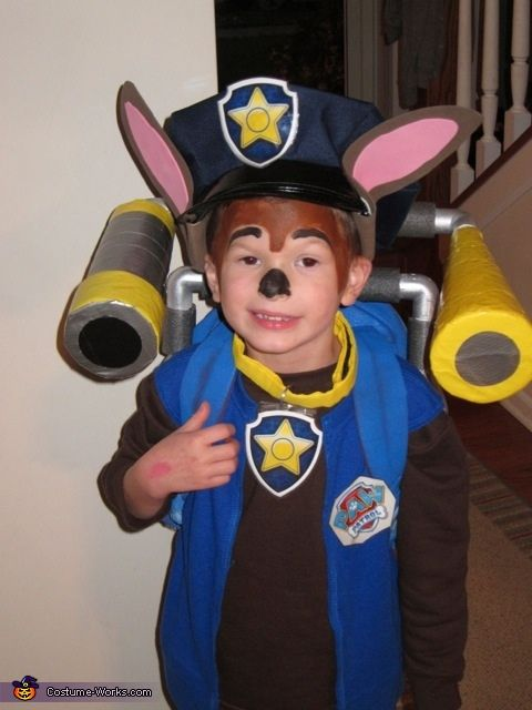 Paw Patrol Chase - Halloween Costume Contest via @costume_works