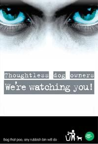 'We're watching you' campaign to clean up dog poo http://bit.ly/1L5PAqH  #werewatchingyou