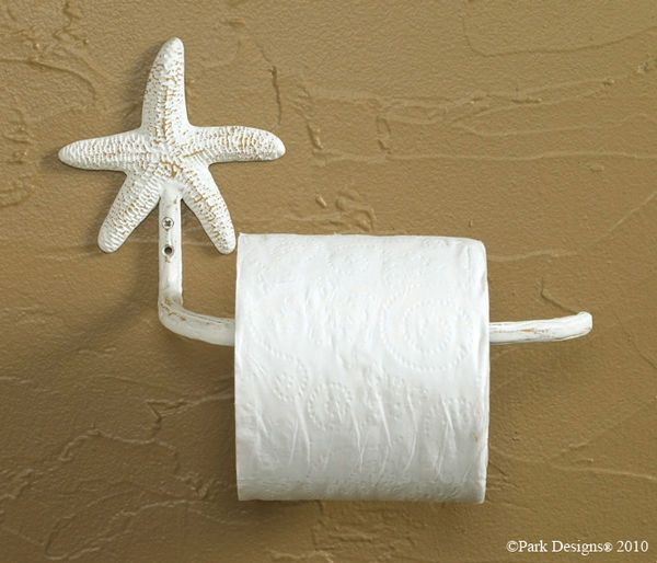 Starfish Toilet Tissue Holder, Beach Bathroom
