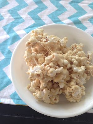 Marshmallow Caramel Popcorn- would be great for a fall date night.
