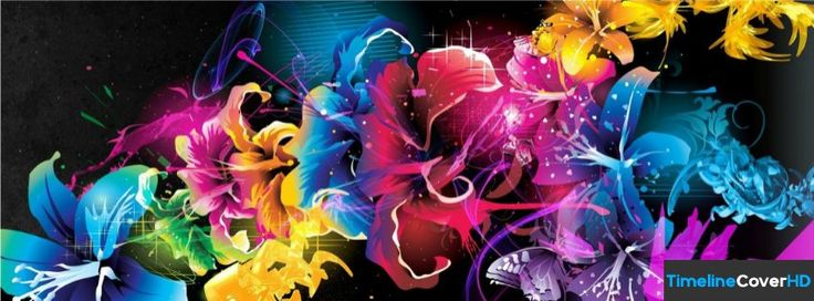 Vector Flower High Resolution Hd Fb Timeline Cover 851x315 Facebook Cover