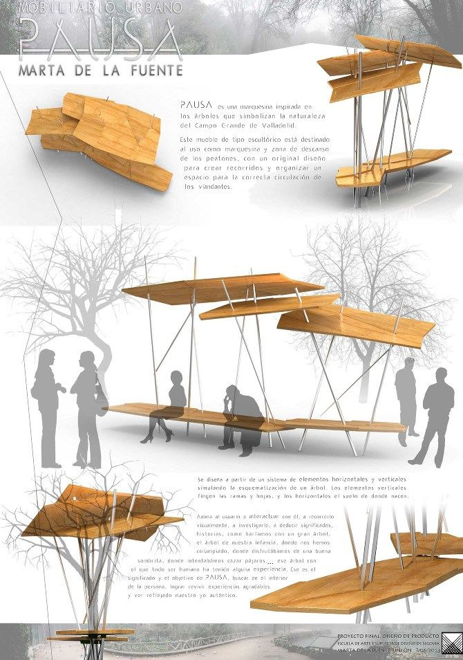 "PFC Mobiliario Urbano ""PAUSA - Marta de la fuente Art and Design"
