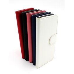 Läderplånbok iPhone 4/4s i flera färger, stående-fodral