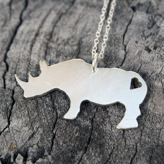 """Buy this necklace and you will be saving rhinos... proceeds donated to """"Saving Private Rhino"""""""