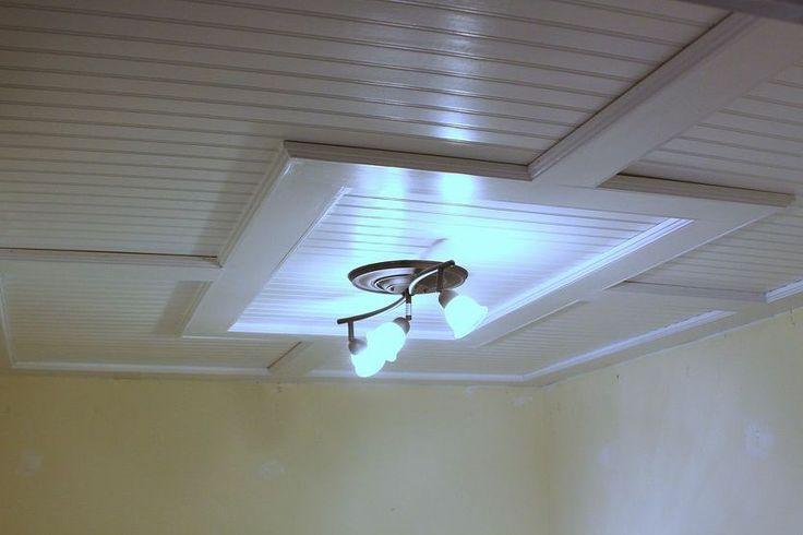 beadboard drop ceiling for basement