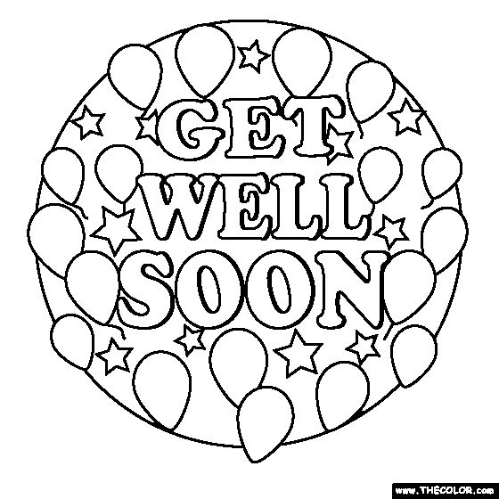free coloring pages get well soon