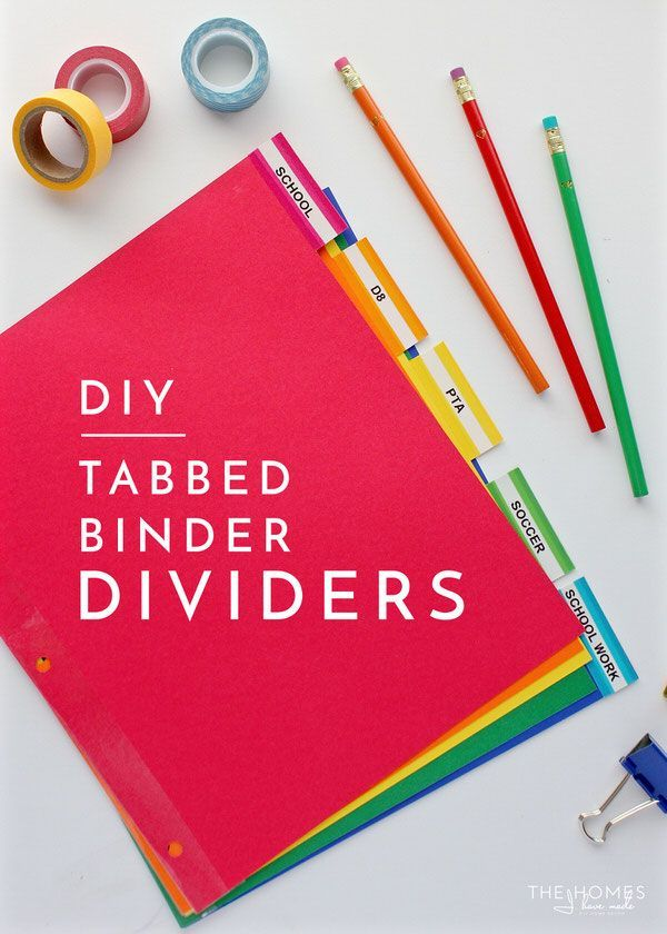 Making your own tabbed binder dividers is quick and easy! This tutorial shows you how!
