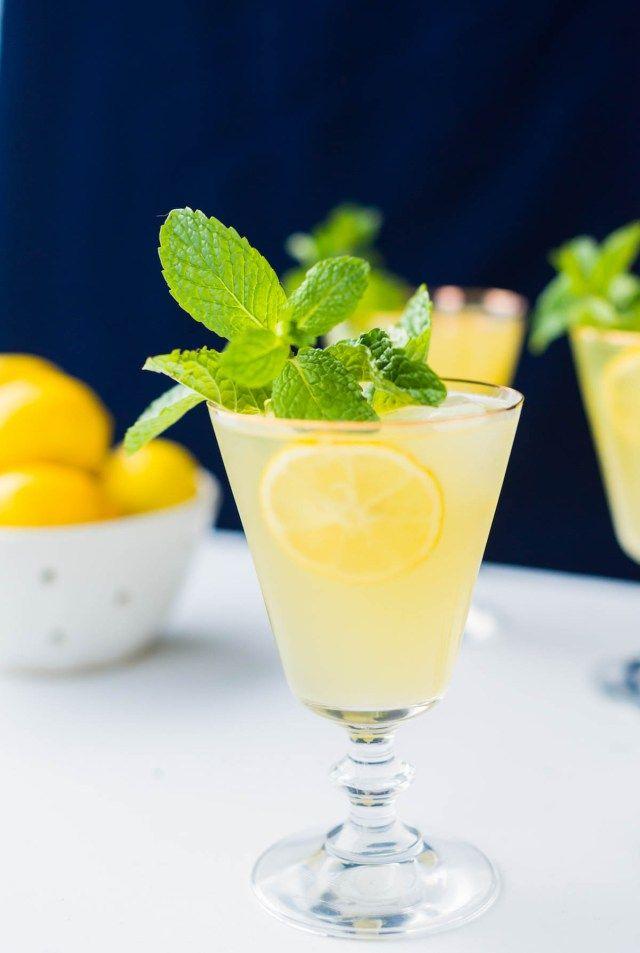 Sparkling Mint Meyer Lemonade | Sugar & Cloth Recipes
