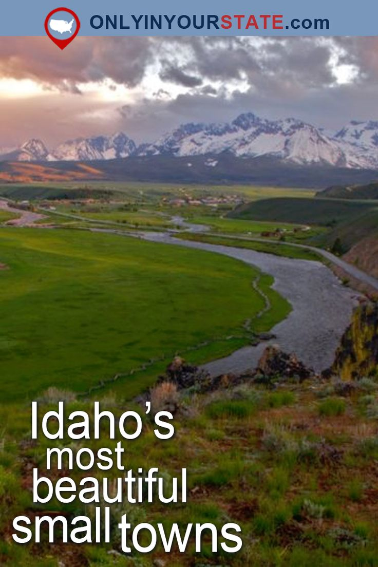 Travel | Idaho | Attractions | USA | Small Towns | City of Trees | Vacations | Places To Visit | Weekend Getaway | Destinations | Day Trips | Idaho Towns | Scenic Towns | Beautiful Places | Sawtooth Mountains | Things To Do