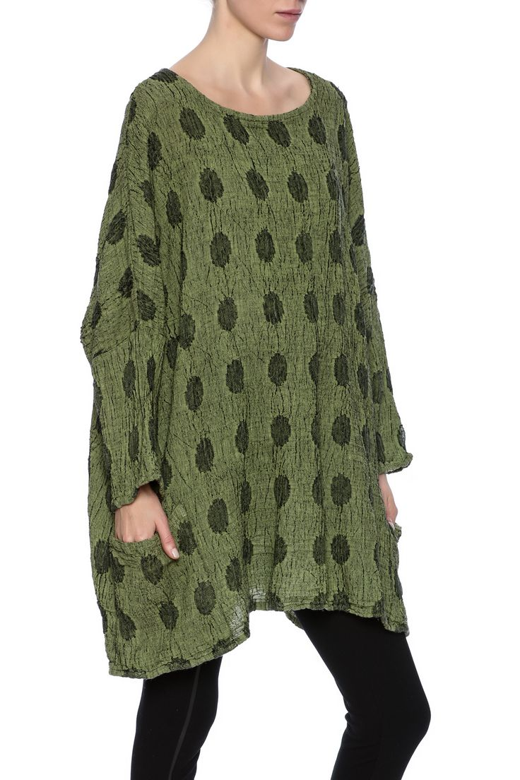 One size pullover with long batwing sleeve, boat neckline and front pockets. Machine wash and dryer safe.   Wasabi Pullover by Cut Loose. Clothing - Sweaters - Sweatshirts & Hoodies North Carolina
