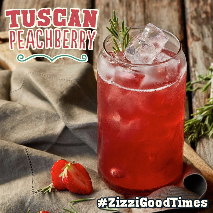 Amaretto with strawberry, peach & cranberry purée. Topped with Prosecco & fresh rosemary. #ZizziGoodTimes