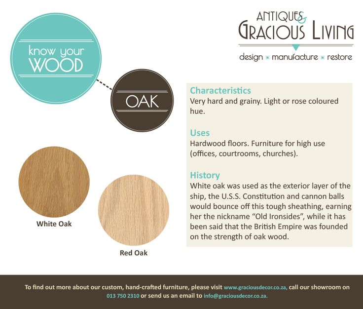 Know your wood! Red Oak...