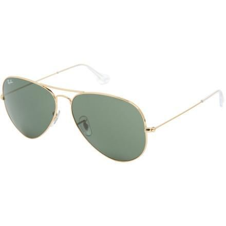 The iconic Ray-Ban Aviator Large Metal II Sunglasses may have a heritage of flying bombing runs or directing invasions, but they're equally at home on arguably more peaceable locations like... More Details