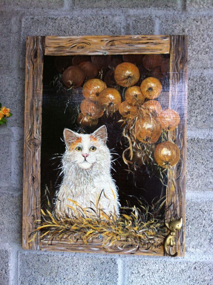 Pittura acrilica su legno