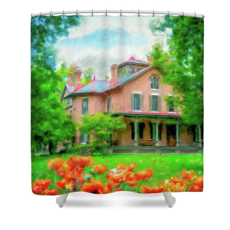 Rutherford B. Hayes Home Shower Curtain featuring the photograph Rutherford B. Hayes Home by Mary Timman