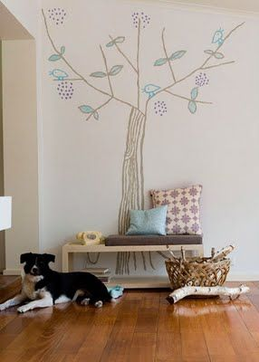 I'm not really into wall decals--but this is cute