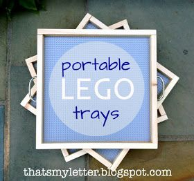 Love this.  Individual lego trays for each of the kids!