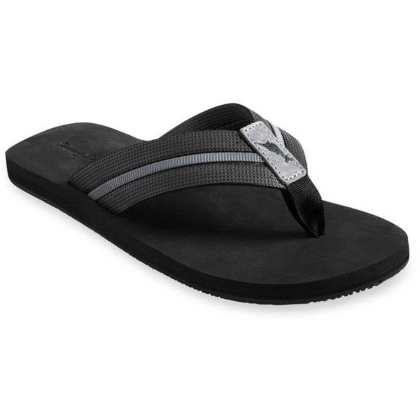 Tommy Bahama Black Taheeti Flip-Flop Sandals ($38) ❤ liked on Polyvore featuring men's fashion, men's shoes, men's sandals, men's flip flops, black, tommy bahama mens sandals, tommy bahama mens flip flops, mens black sandals, mens black shoes and tommy bahama mens shoes