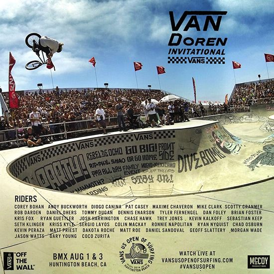#naludamagazine #fashion #lifestyle #entertainment #usa #naludamagazine.com WORLD'S BMX ELITE SET TO LIGHT UP THE 2014 VANS US OPEN 8/1 & 8/3  #BMX #CA #Chase Hawk #Dakota Roche #Daniel Sandoval #Dennis Enarson #Dennis McCoy #Gary Young #huntington beach #Kris Fox #Van Doren Invitational #Vans #Vans Pro Bowl #Vans US Open of Surfing