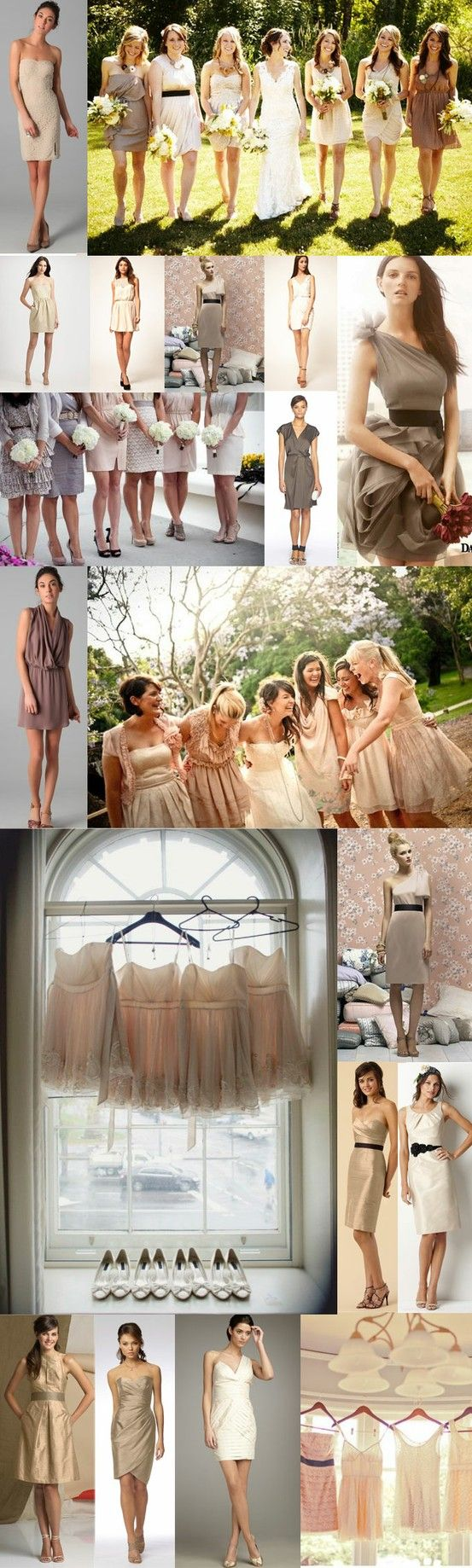 I go back n forth on whether I want mixed matched dresses for my bridesmaids or if I want them all to match... future thinking girl problems!