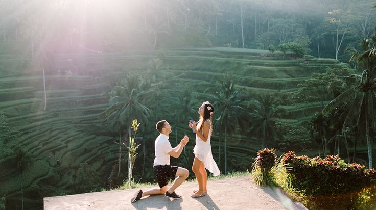 """Bob & Vanessa's Ubud Bali Surprise Proposal Photography. Bob decided to arrange his Ubud Bali Surprise Proposal Photography. Bobby: """"This is our first time in Bali, and because Vanessa loves traveling so much, I wanted to propose her when we are traveling together. I decided to proposed her at Tegalalang rice terrace because it's so beautiful, even though we have to go early to catchup the best sunrise"""" #bali #engagement #proposal #photography #ubud #tegalalang"""