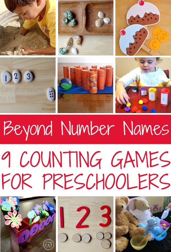 Beyond Number Names: How children learn to count and 9 counting games for preschoolers