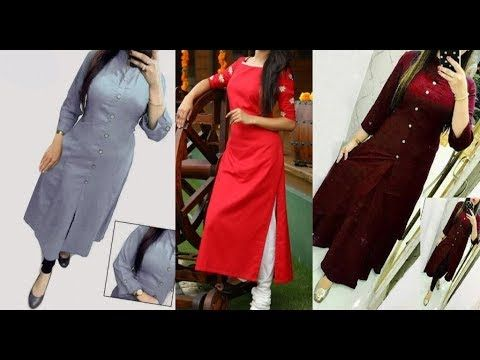 42d9d5e1fdd06 Beautiful neck designs with buttons  Different designs for  kurtis kurtas -  YouTube